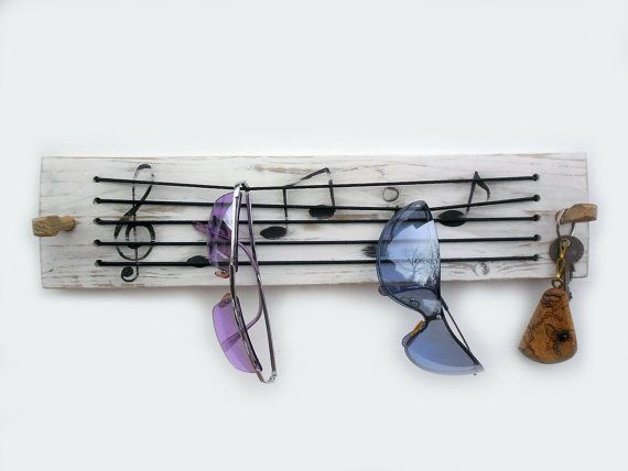 key & sunglasses holder key rack  musical by ThirdCloudToTheLeft, $32.00