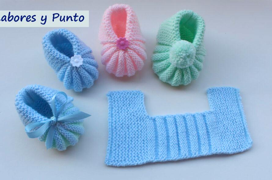 43 Ideas De Tejido Escarpines Dos Agujas Zapatos De Bebé De Ganchillo Zapatitos De Bebe Tejidos Zapatos Tejidos Para Bebe