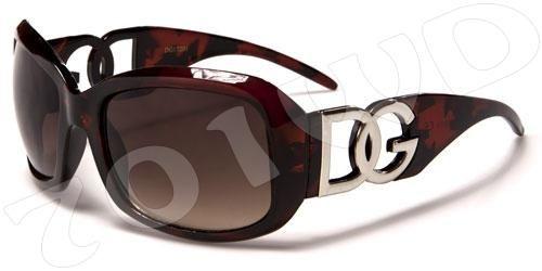 ca91e7e1adc NEW Womans DG Designer Sunglasses Black Brown Fashion Ladies Large ...