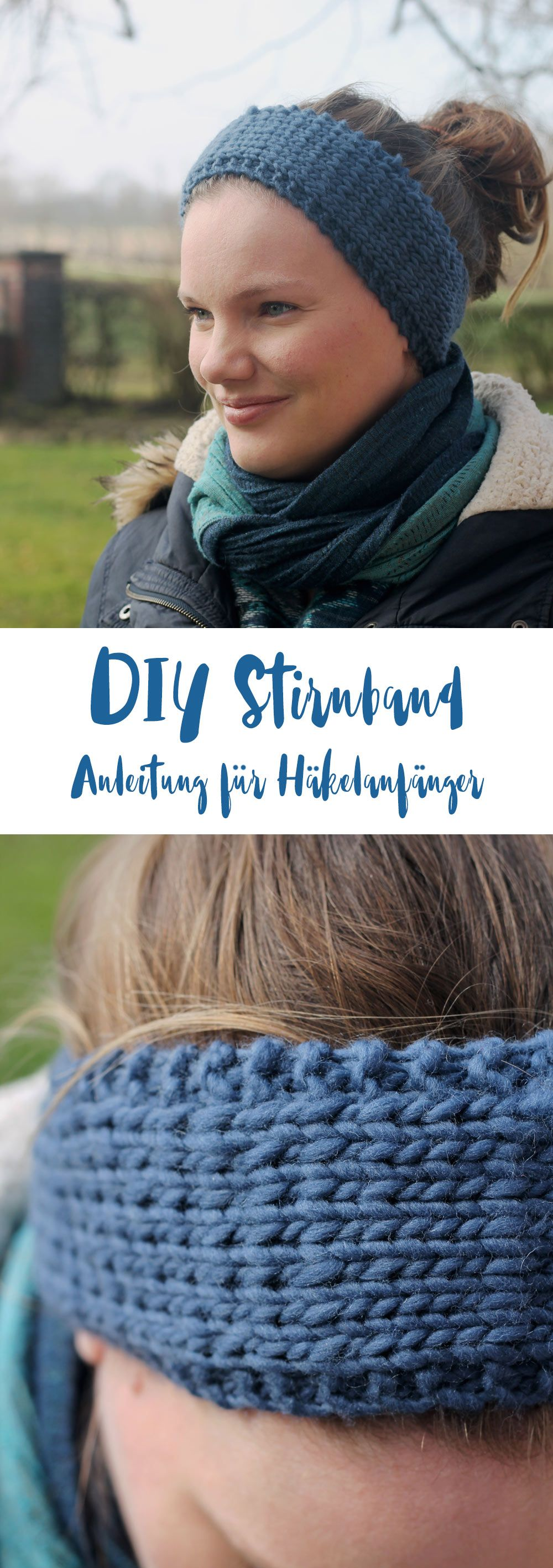 DIY Stirnband stricken | Stirnband häkeln, Diy geschenkideen und ...
