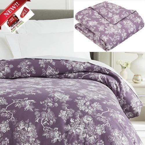Pinzon Flannel Duvet Cover Twin Vintage Floral Lavender 100 Cotton Purple Soft Pinzon Vintage Flannel Duvet Cover King Duvet Cover Duvet Covers