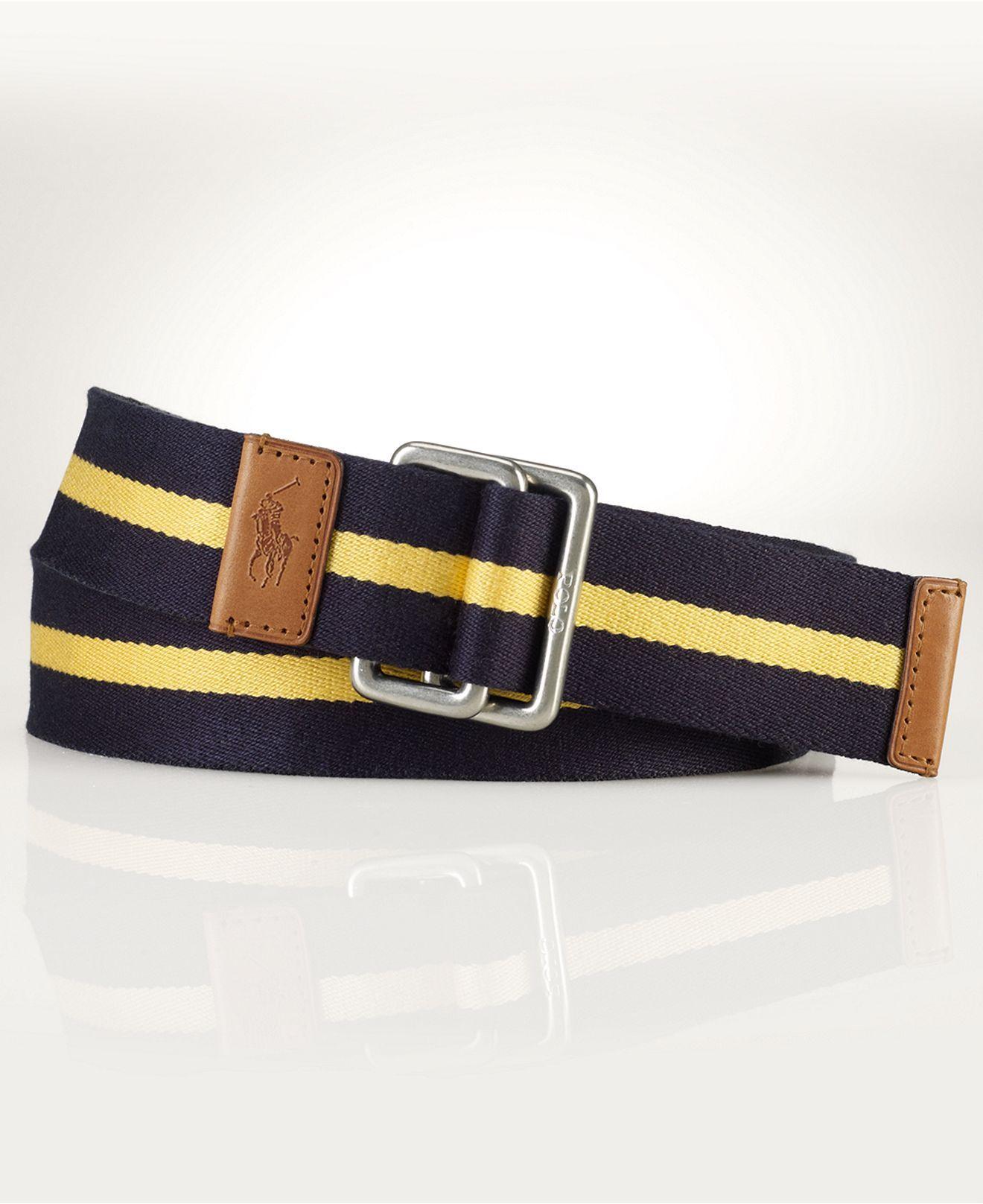 Polo Ralph Lauren Accessories, Striped Web Belt Mens Belts