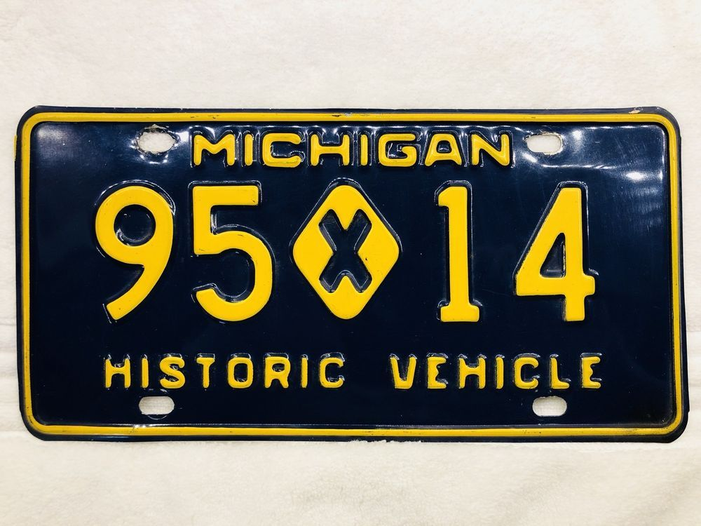 Michigan 1970s 1980s HISTORIC VEHICLE License Plate #95 X 14 ...