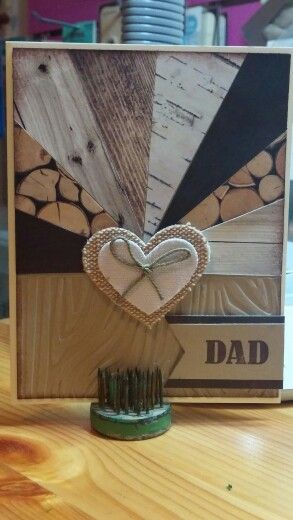 My first starburst or sunburst card! Adventure Bound DSP, Stampin' Up! Dad, Father's Day