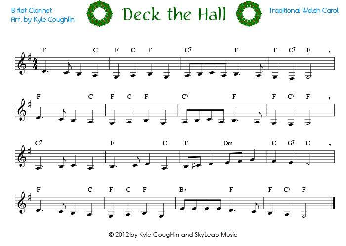 Piano clarinet duet sheet music christmas carol of the bells piano