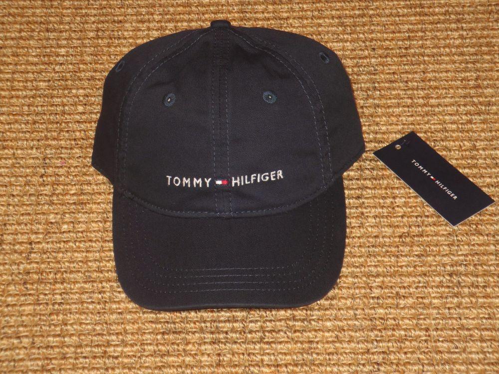 c0cf4be6 TOMMY HILFIGER BASEBALL CAP SIGNATURE LOGO SPORT CLASSIC NAVY BLUE NEW # TommyHilfiger #BaseballCap