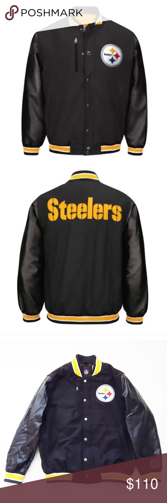 Pittsburgh Steelers Bomber Varsity Jacket NFL Varsity
