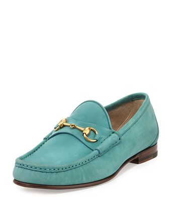 ccd0c1e49df Roos Suede Horsebit Loafer Turquoise