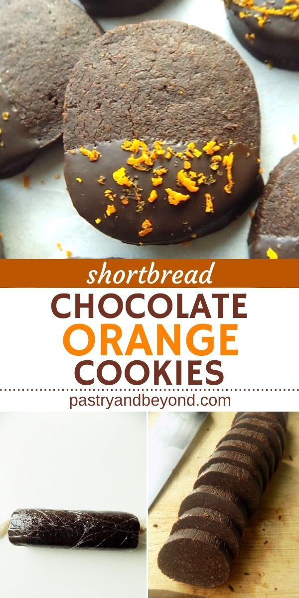 Chocolate Orange Shortbread Cookies - Pastry & Beyond