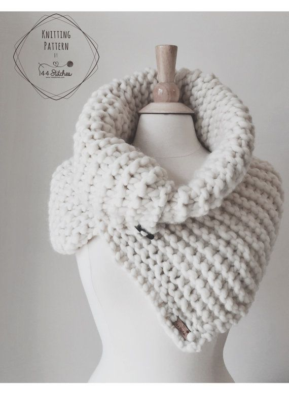 Harbour Cowl Knitting Pattern, Chunky Cowl Pattern | Knit and ...