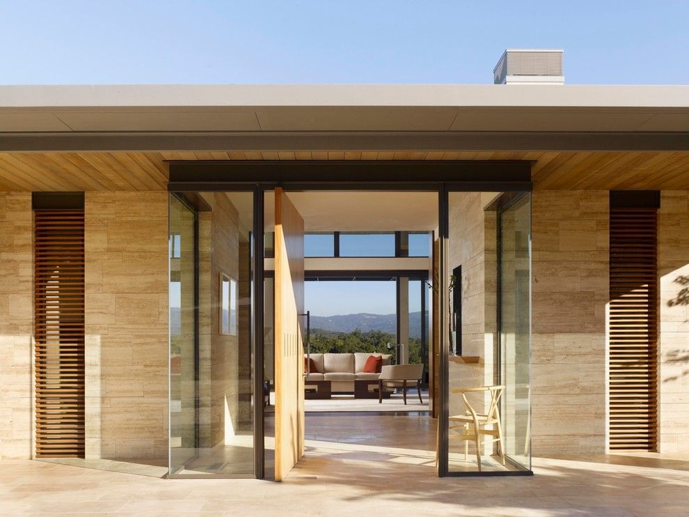 Modern House Entrance Designs Entry Modern With Patio