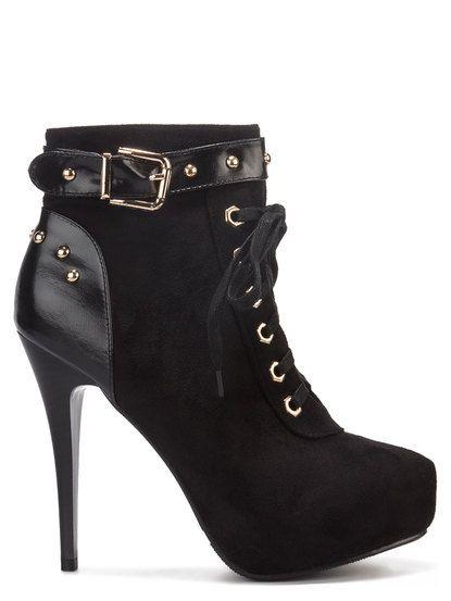Women's ankle boots Beauty Girl's - črna