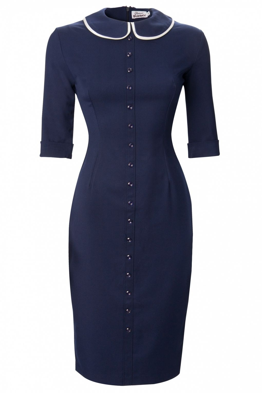 545797e42715 Glamour Bunny - Glamour Bunny - TopVintage exclusive ~ Miss Prim Peter Pan  collar pencil dress na