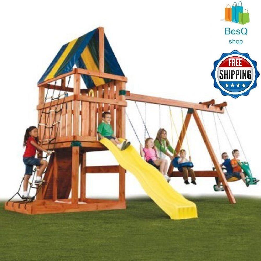 Swing Sets For Backyard Hardware Kit Children Kids Outdoor