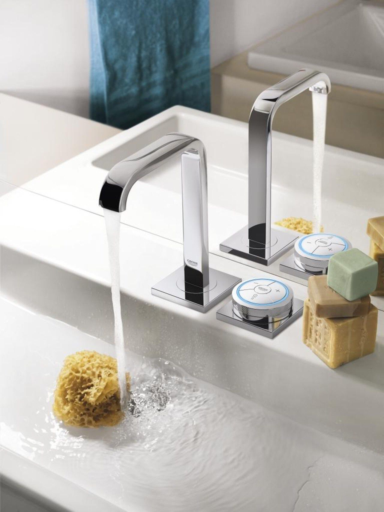 Grohe 36345000 Chrome Allure F Digital Electronic Bathroom Faucet Bathroom Faucets Modern Bathroom Faucets Modern Bathroom