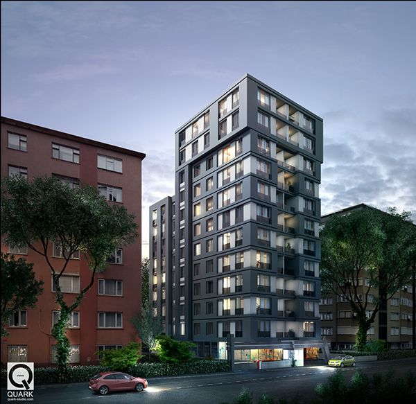 Apartment Tower Rendering: Apartment Building In Istanbul