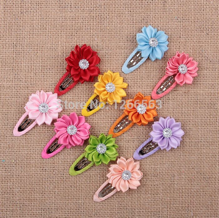 Newest Children Hair Accessories Flower Solid BB Clip Hair Clip Baby Hair Band Infant Bobby Pin Girl Hairpin headwear