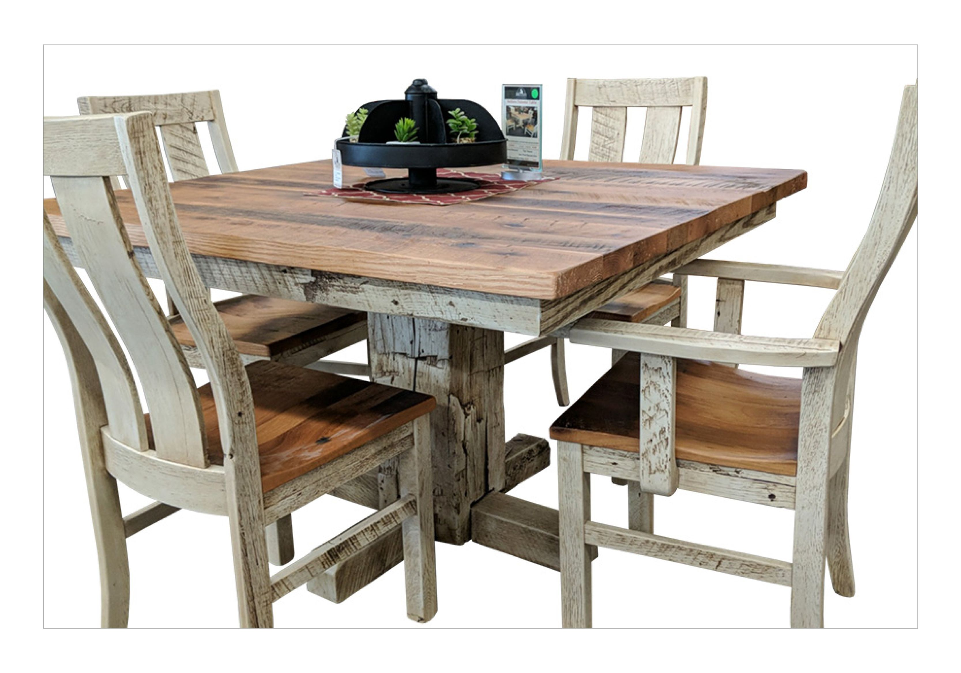 Barnwood Pedestal Dining Table Chairs Barnwood Lc Fresh From