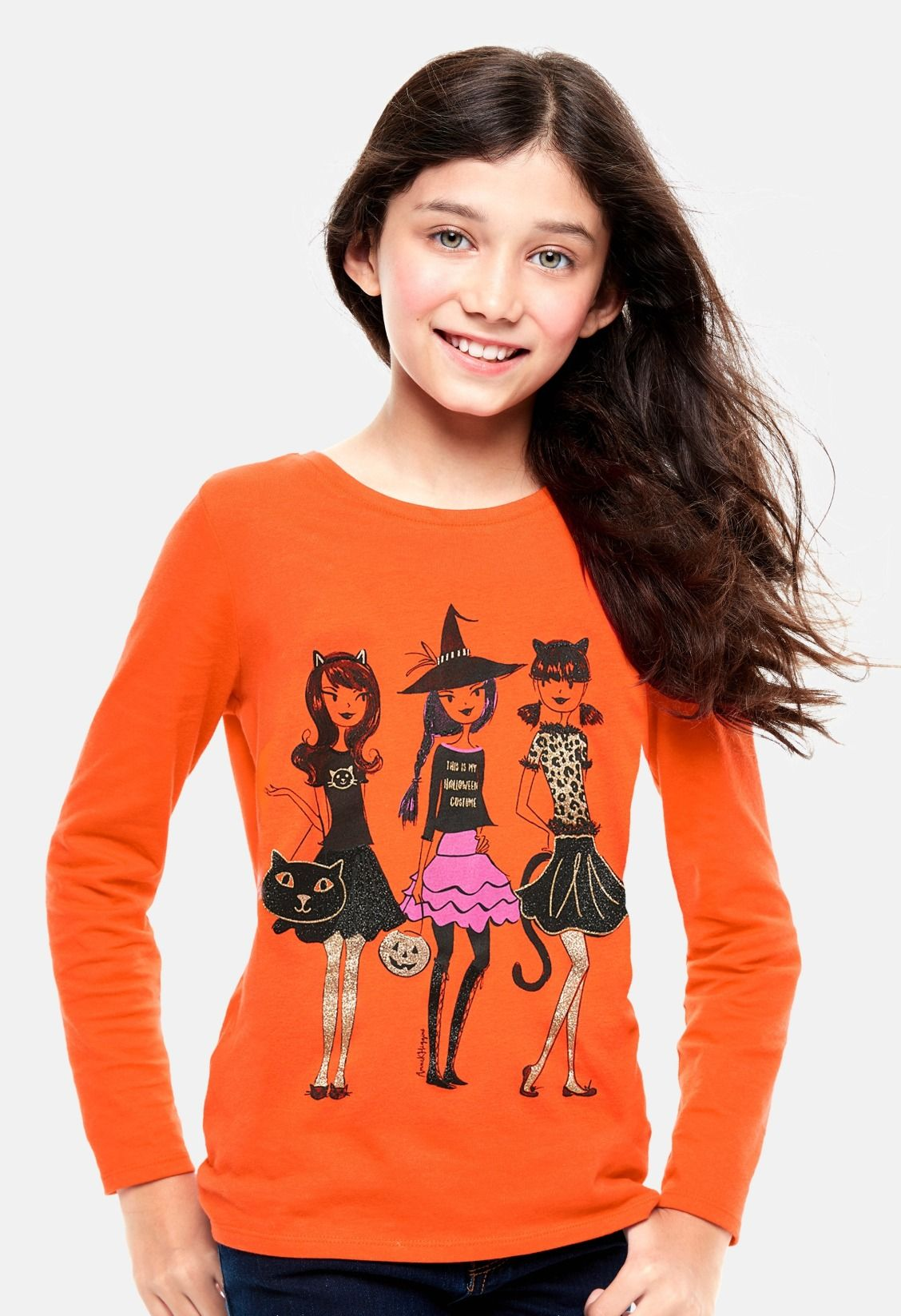 1c9f71ee Girls' fashion | Halloween graphic tee | Kids' clothes | The Children's  Place