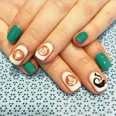 barista nails i totally love them  nails nail art