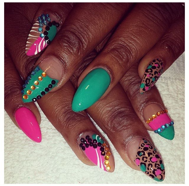 Studded pink n teal fancy french tips dope nail design ideas studded pink n teal fancy french tips dope nail design ideas nail swag obsession prinsesfo Image collections