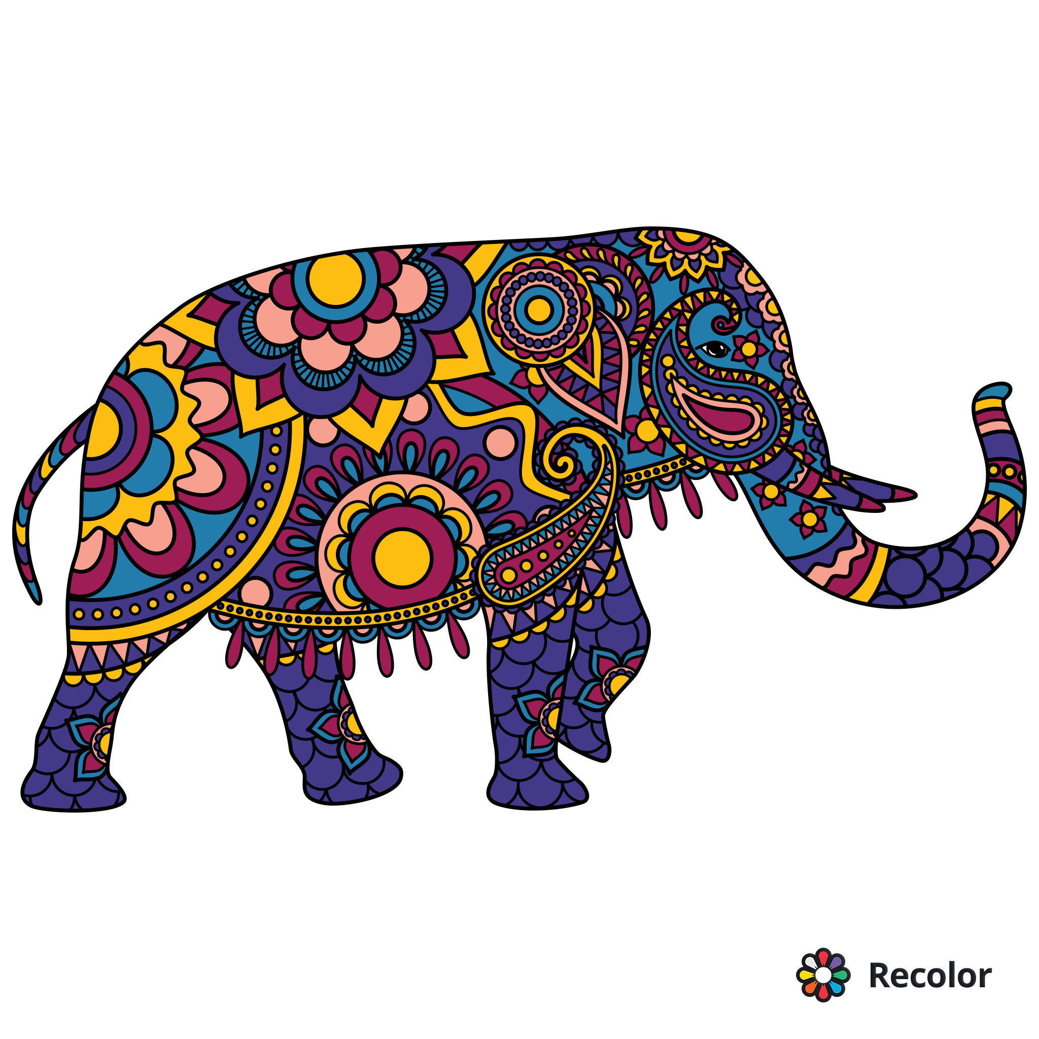 Pin On My Recolor Search more hd transparent indian elephant image on kindpng. pin on my recolor