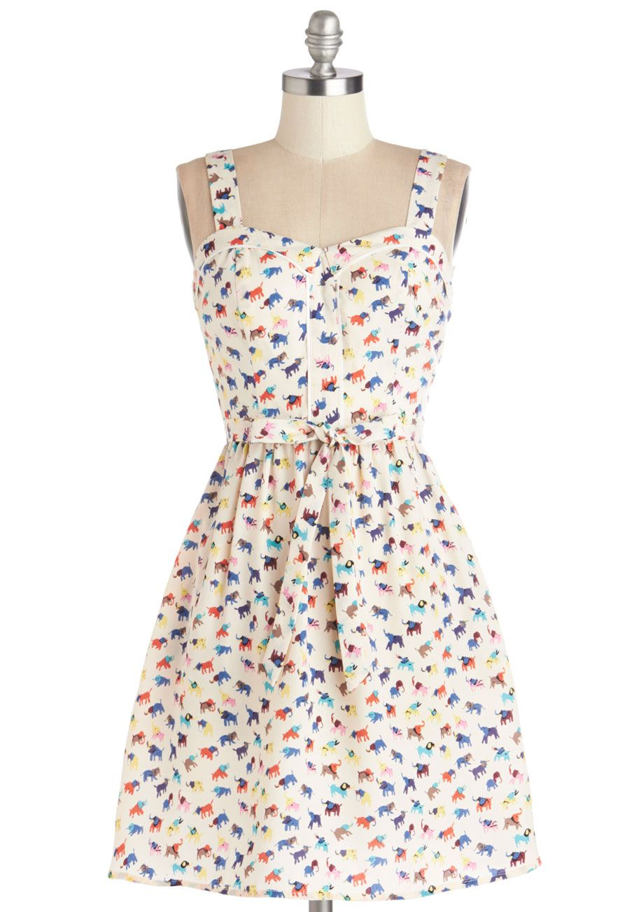 ce7568c3b63 Lead the Pachyderm Dress. Inspire friends with your whimsical fashion sense  when you don this ModCloth-exclusive