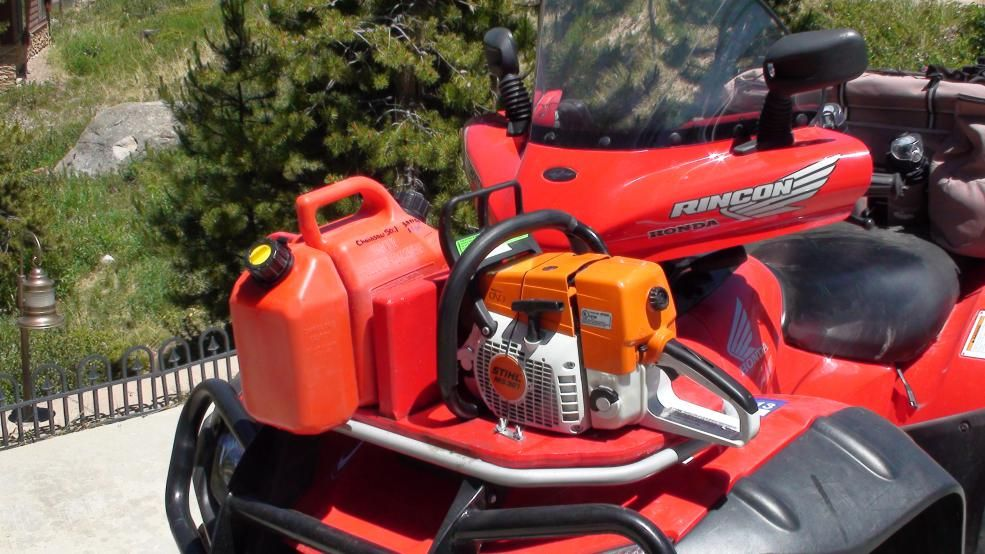 Chainsaw carrier for about 5 Honda ATV Forum in 2020