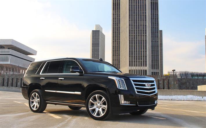 Download Wallpapers Cadillac Escalade 2018 4k Luxury Black Suv