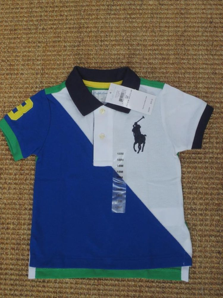 NEW RALPH LAUREN BABY BOY 18 MONTHS POLO SHIRT BIG PONY  39 TAG   PoloRalphLauren 9c945401bb73