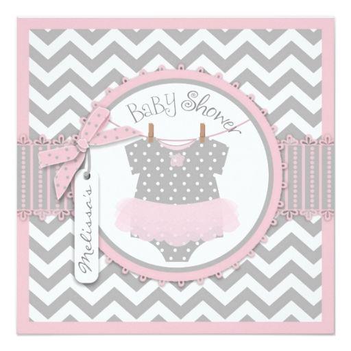 Baby Girl Tutu Chevron Print Baby Shower Personalized