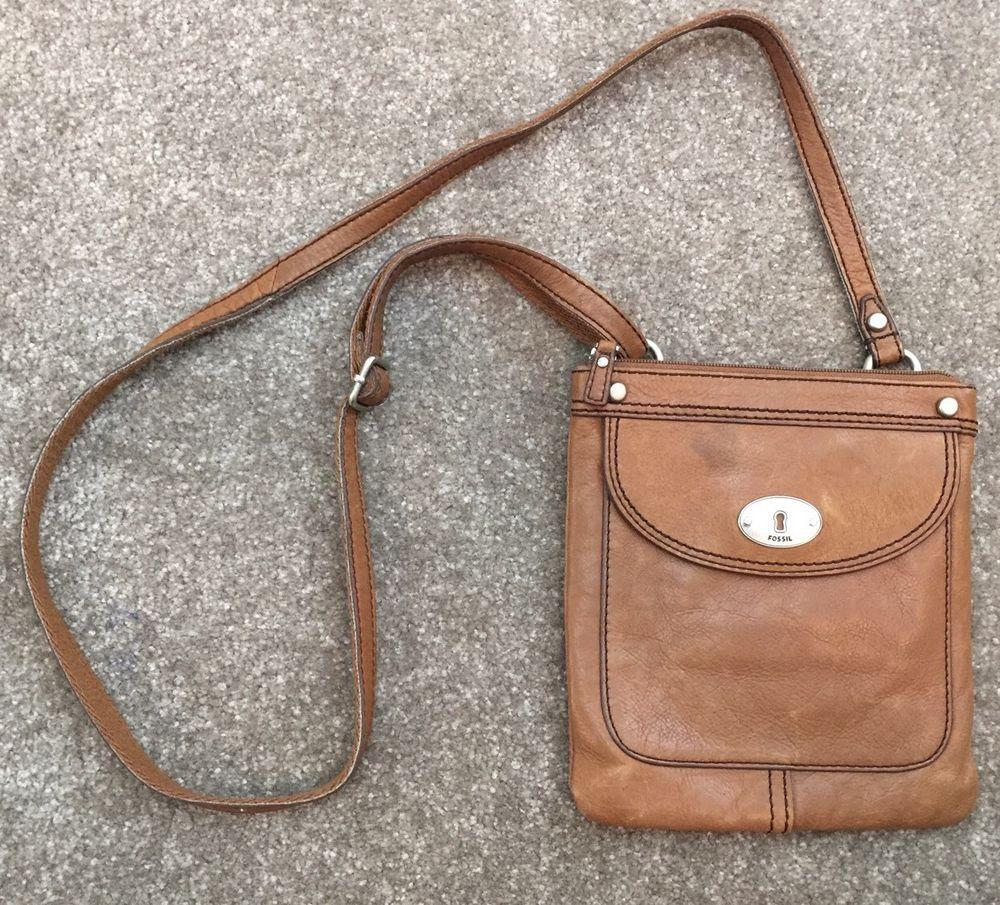 Fossil Leather Messenger Crossbody Purse Bag*    eBay