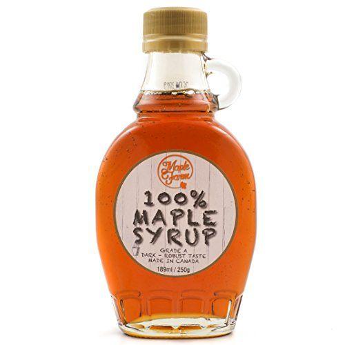 Ahornsirup Grad A (Dark, Robust taste) - 189 ml (250 g) - Kanadischer ahornsirup - Original Maple Syrup