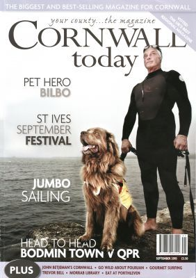 Cornwall Today article on water rescue dog Bilbo