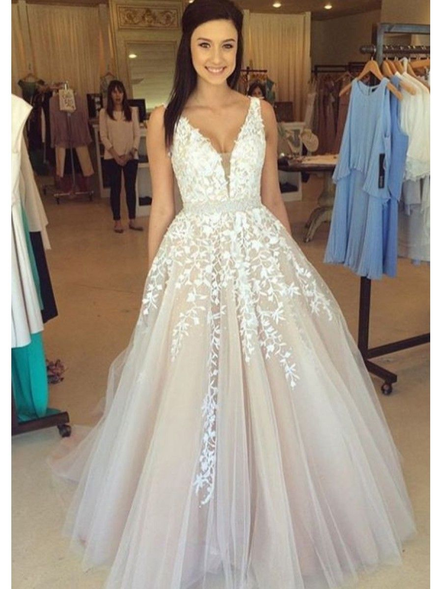 9484f34767 A-Line Straps Sleeveless Long Prom Evening Formal Dresses 99602190 ...