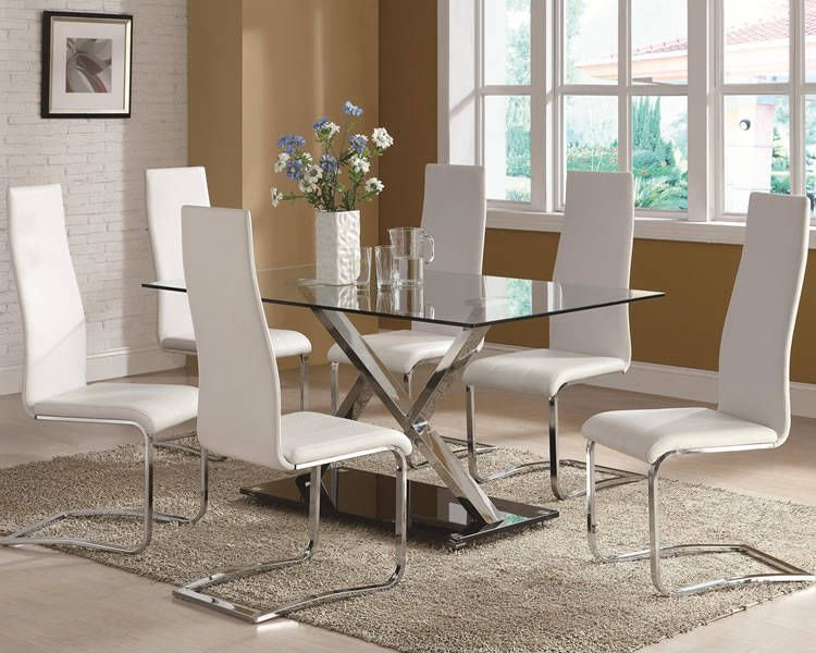 Glass Top Dining Room Tables  Dining Furniture  Pinterest Adorable Glass Tables For Dining Room Design Decoration