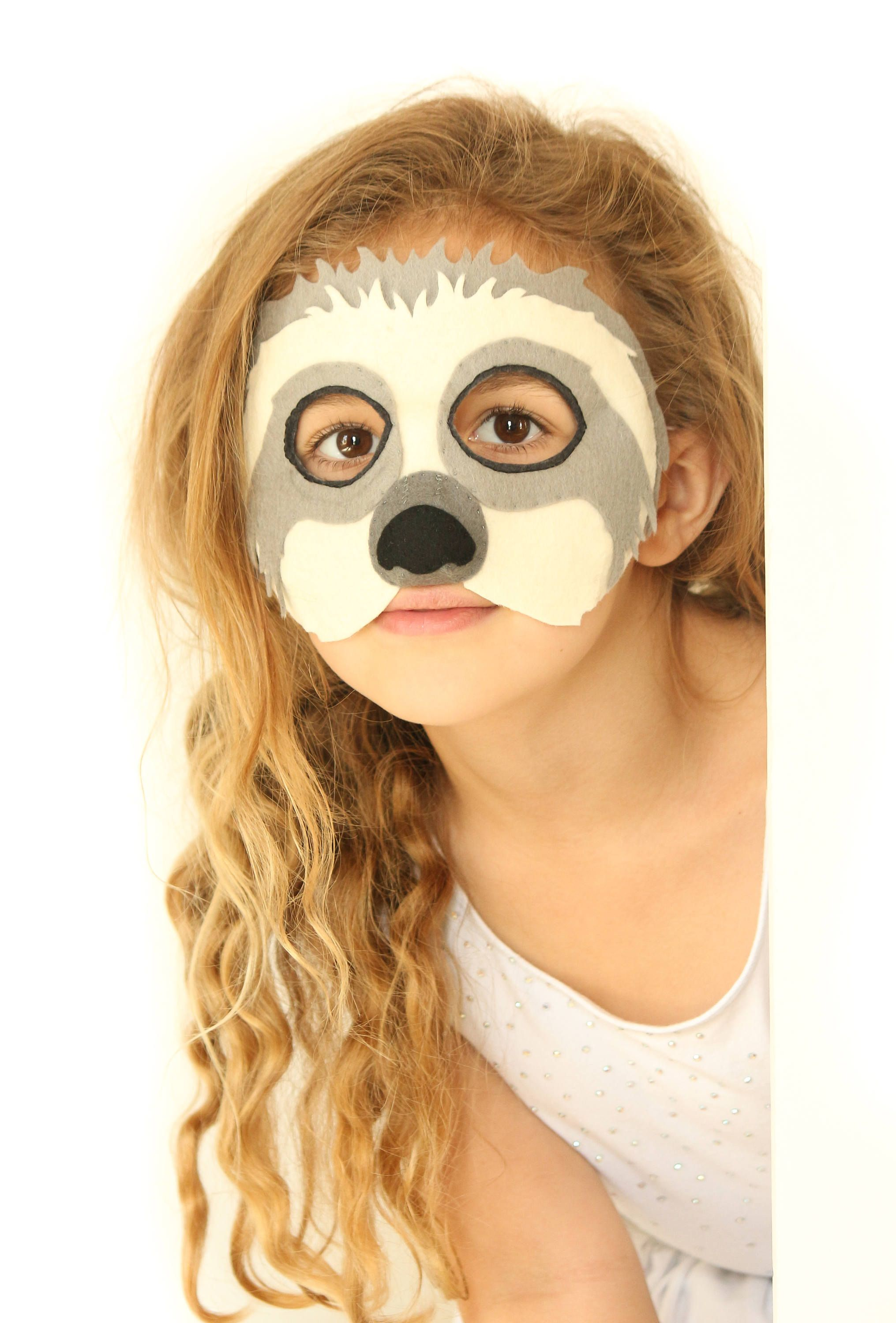 Sloth Mask Pattern. Kids sloth costume sewing pattern | Halloween ...