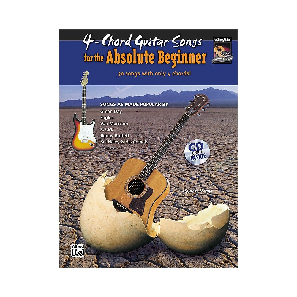 4 Chord Guitar Songs For The Absolute Beginner Book Cd
