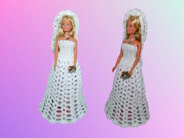 Brautkleid für 30cm Puppen - Häkelanleitung | Dukker | Pinterest ...