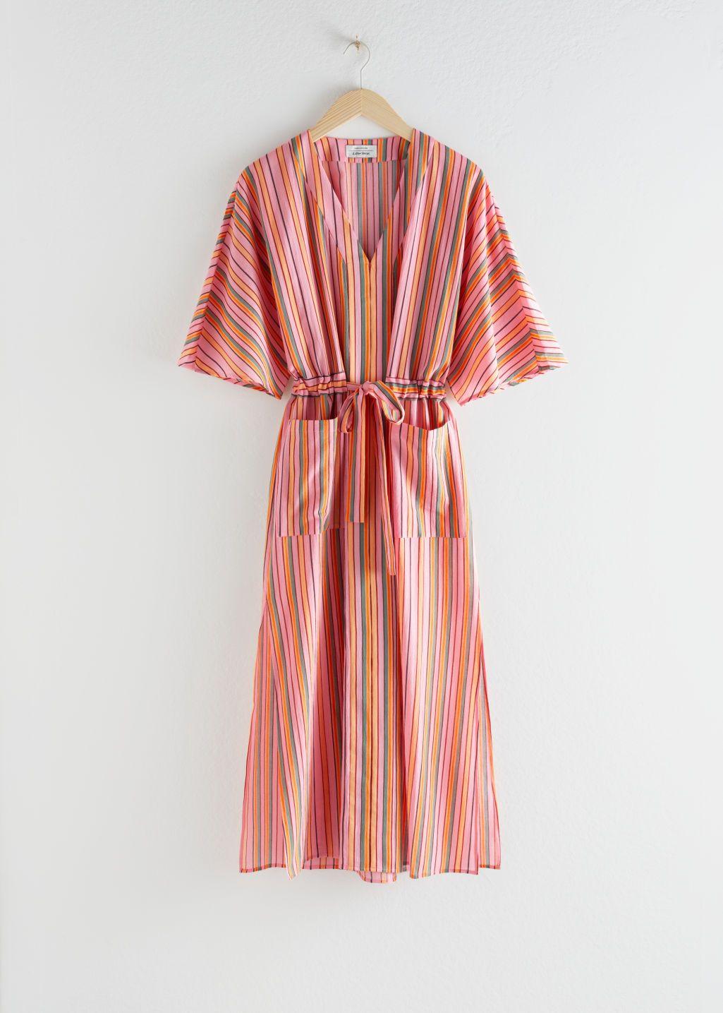 7841f322e27b6 Striped Cotton Midi Dress - Stripe - Midi dresses - & Other Stories