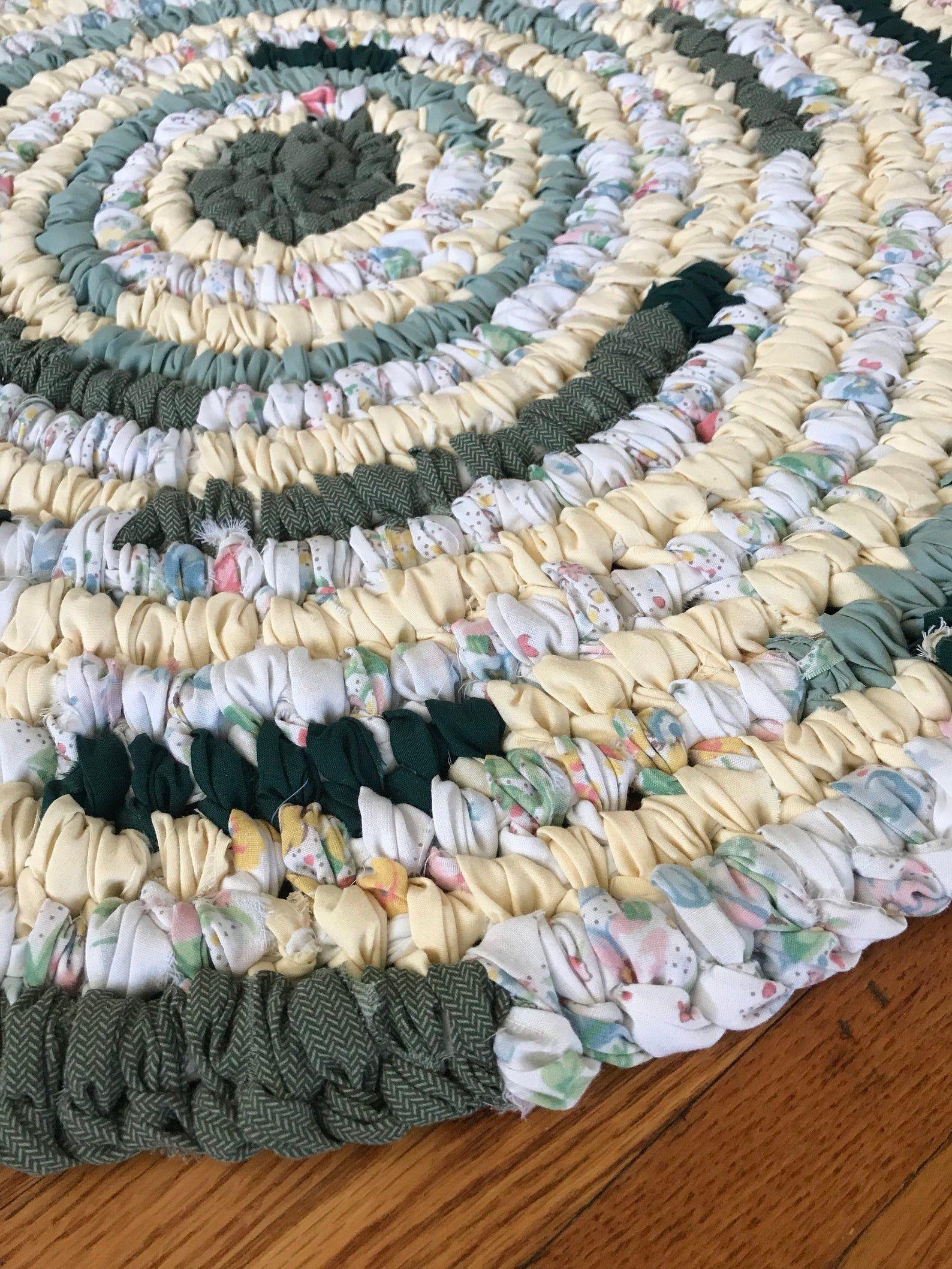 Handmade rag rug round rug farmhouse rug cabin rug etsy