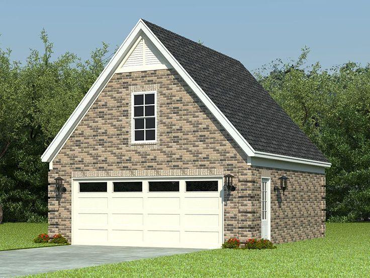 2Car Garage with Loft, 006G0067 Garage plans with loft