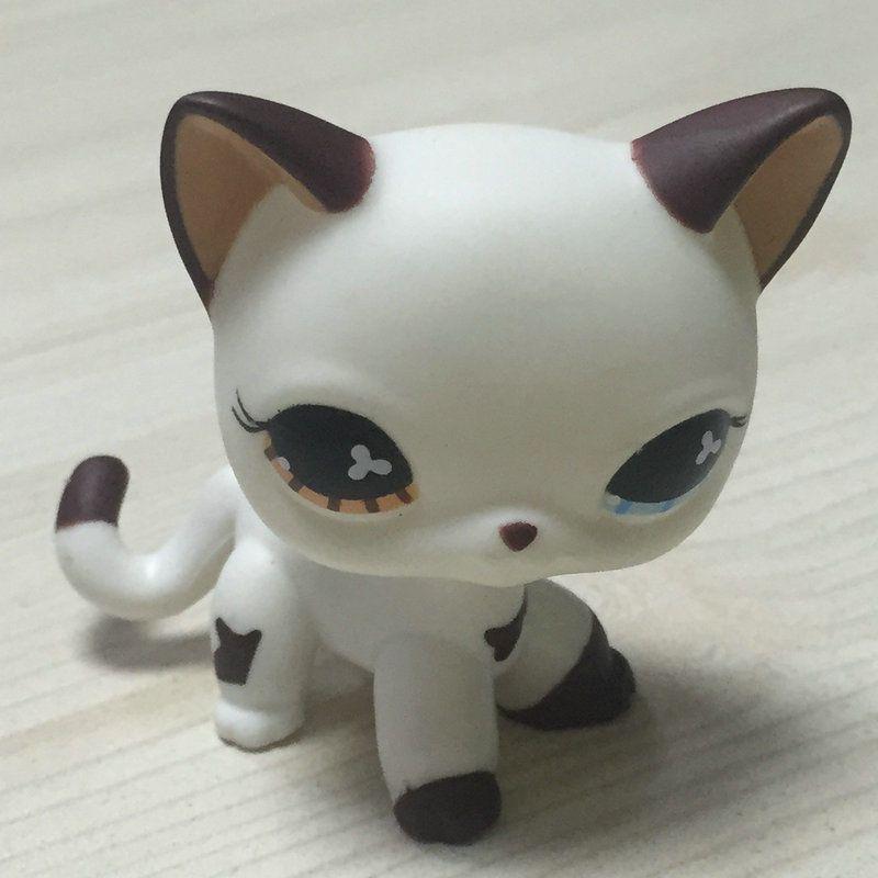 Littlest Pet Shop Cat LPS Hand Painted Ooak Custom Short Hair