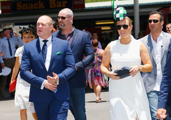 Zara and Mike Tindall  attend the  Magic Millions Raceday on January 14, 2017 in Gold Coast, Australia. - Socials At Magic Millions Raceday