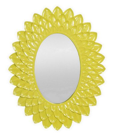 Take a look at this Yellow Sunflower Wall Mirror by Three Hands ...