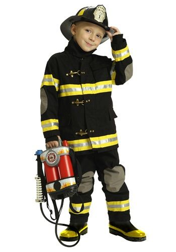 Kids FIREMAN HAT Fancy Dress Uniform Boys Emergency Services Costume Firefight