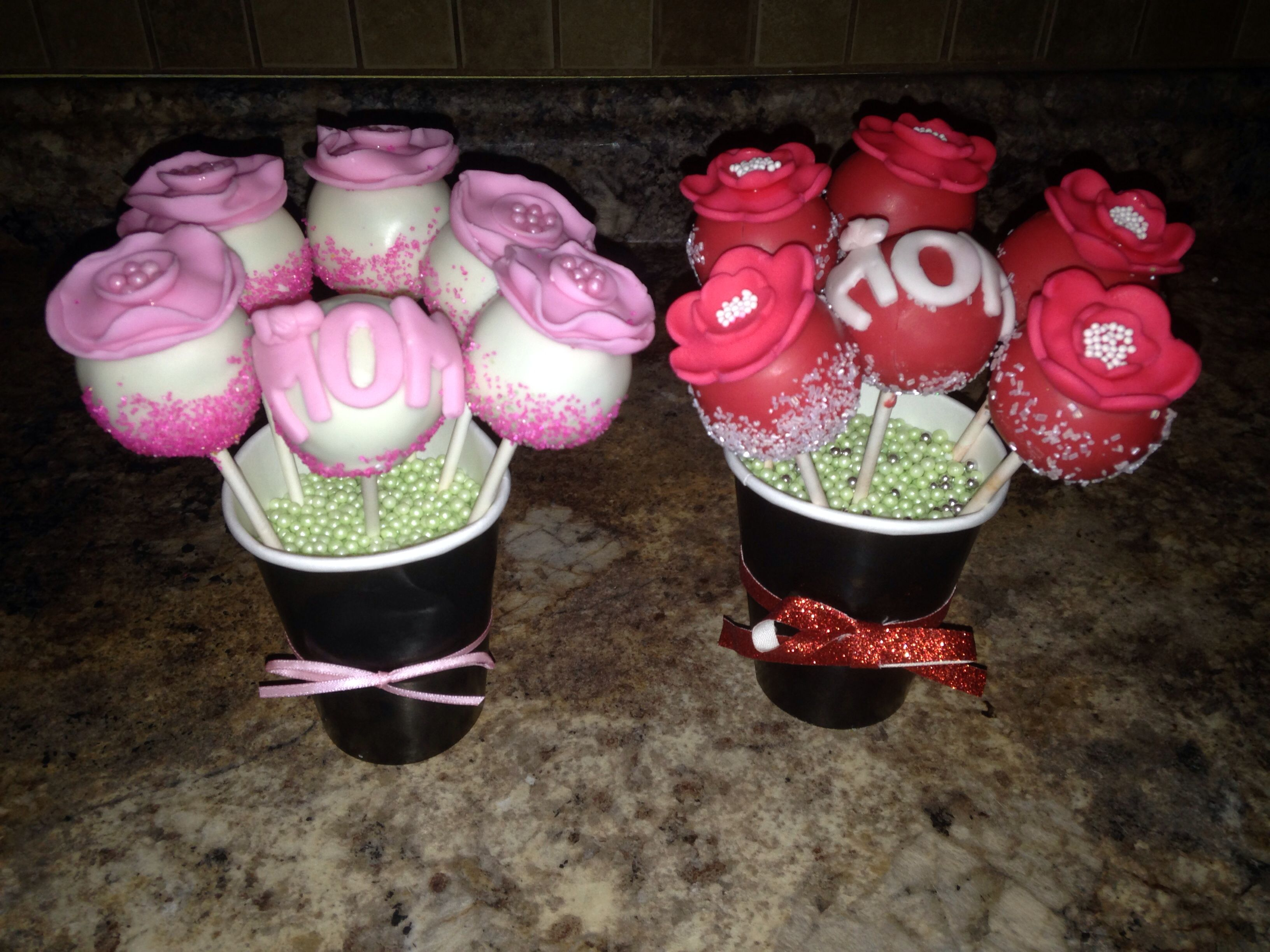Mother's Day flower cake pops made by me, SweetEms Cakery!