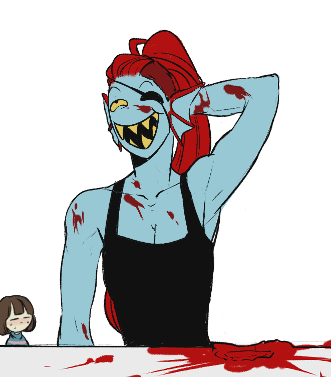 2. Frisk and Undyne | Artist Lazuen