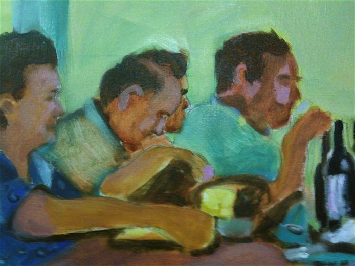 Atelier Barbara Mascini Detail of my painting. www.barbaramascin.nl