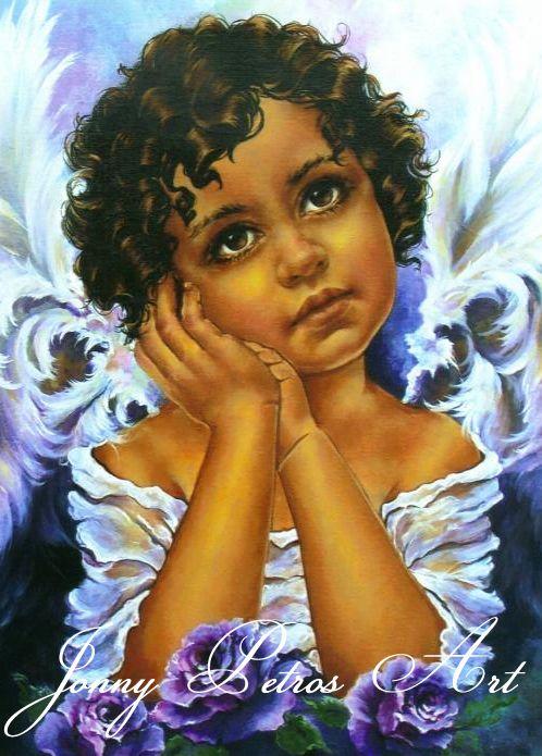 Angel Painting by American Artist Jonny Petros